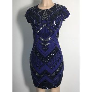 Express Aztec Sequined Bodycon dress M